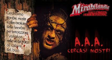 Halloween Horror festival, lavoro a Mirabilandia per 150 figuranti