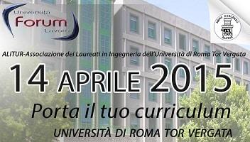 Forum Università-Lavoro 2015 - Università Tor Vergata